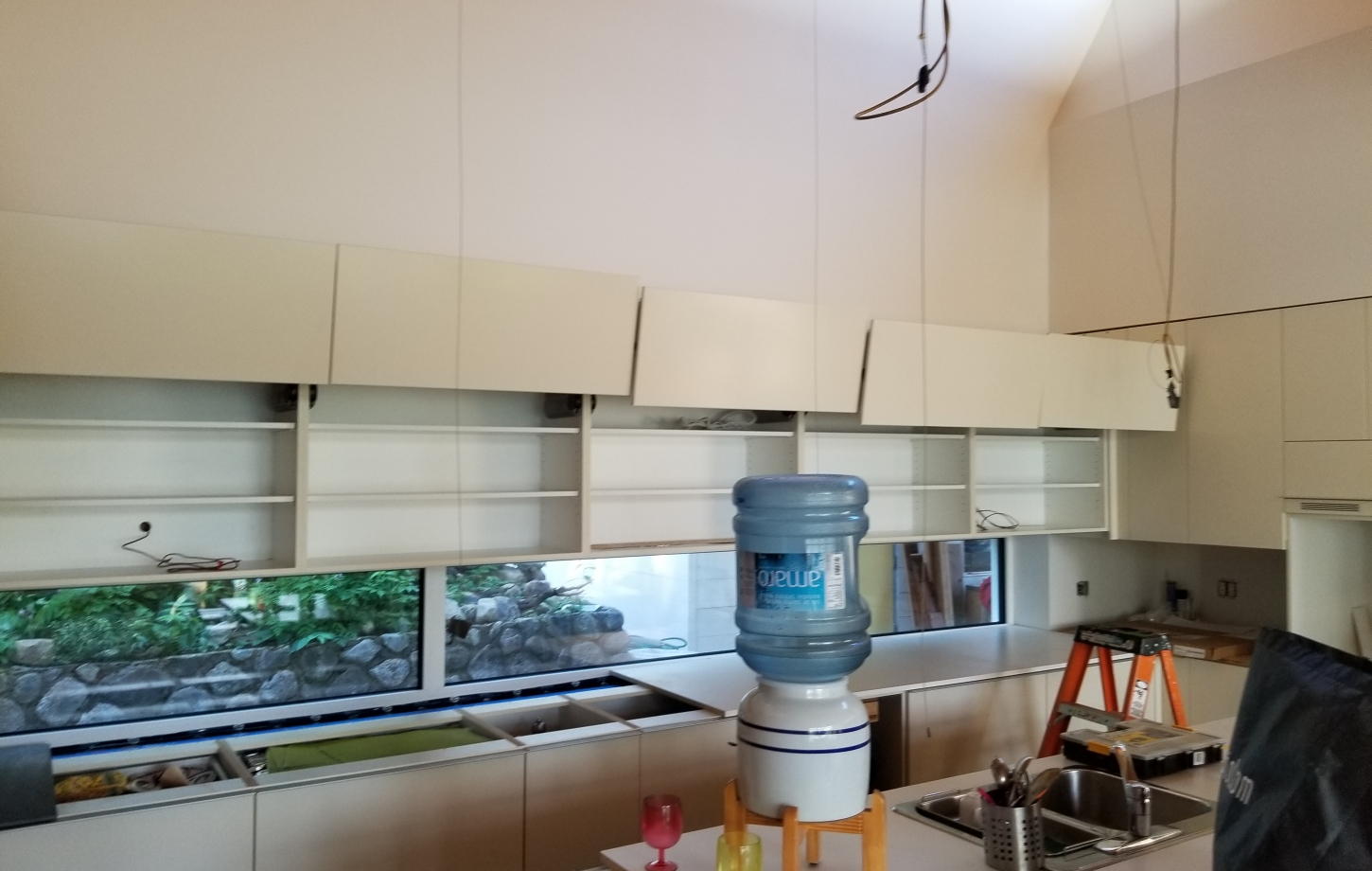 Installation of kitchen cabinets